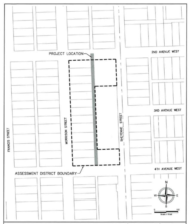 Pioneer Place Alley Improvement Assessment District Boundary