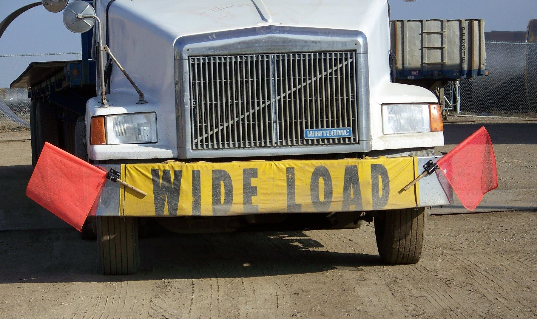 Truck with Wide Load Sign