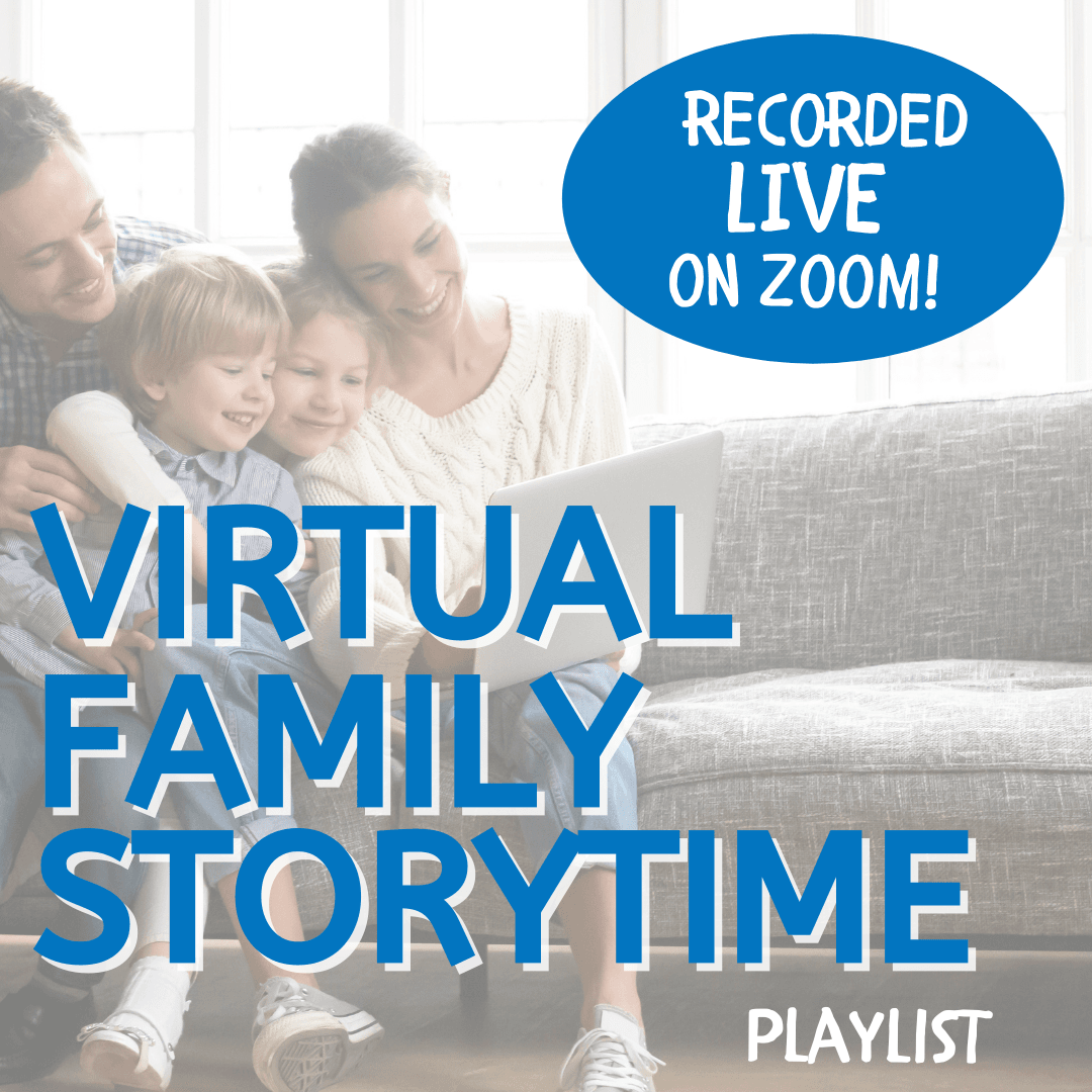 Virtual Family Storytime Square Video Playlist Button